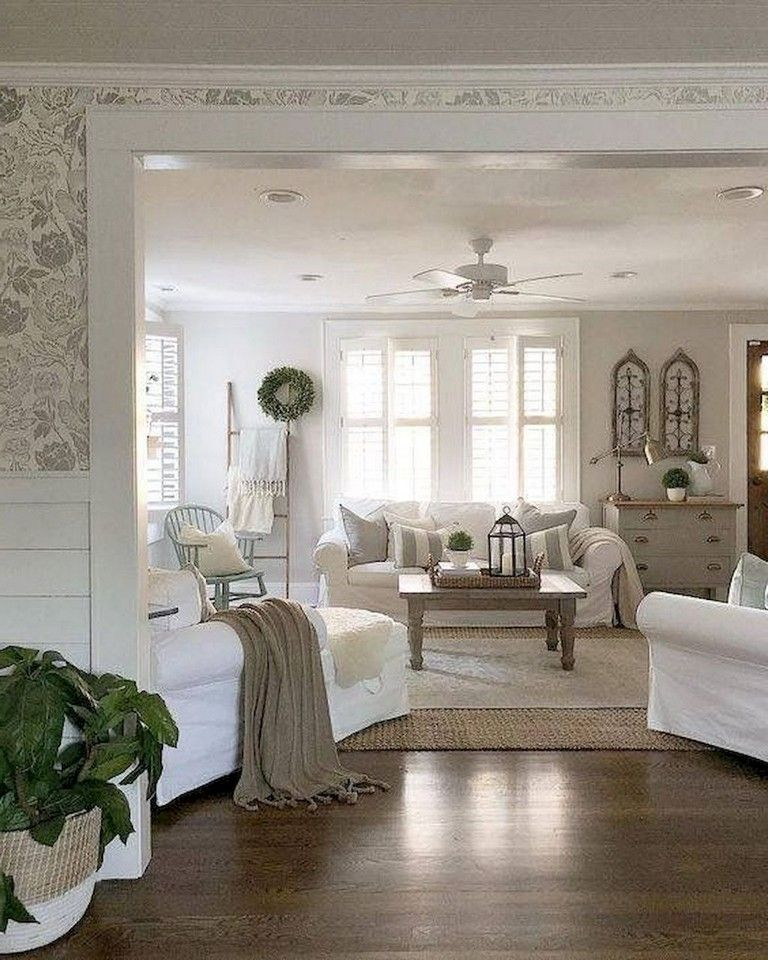70 Luxury Farmhouse Living Room Decor Ideas