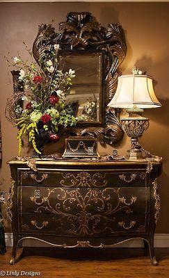 Verzierten Spiegel · Toskanische Möbel · Gorgeous Chest And Mirror.