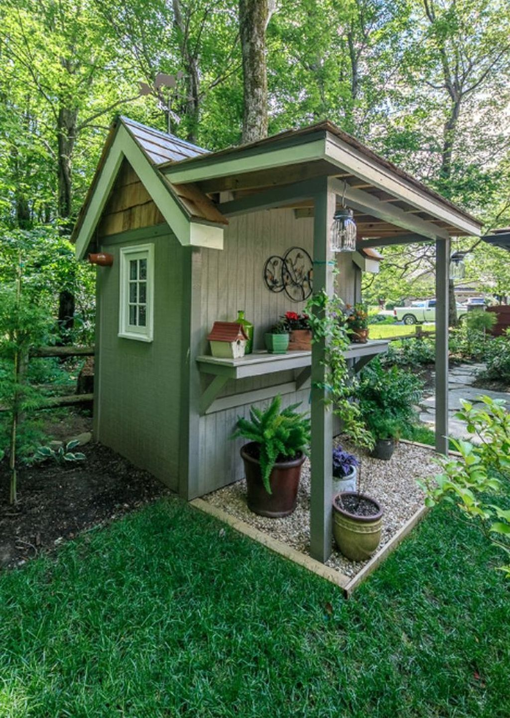 30 Brilliant Garden Design Ideas For Front Your House Trenduhome Small Patio Design Backyard Sheds Backyard Landscaping Backyard landscaping ideas with sheds