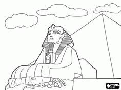 Coloring Page Of The Great Sphinx Google Search Fifth Grade Art