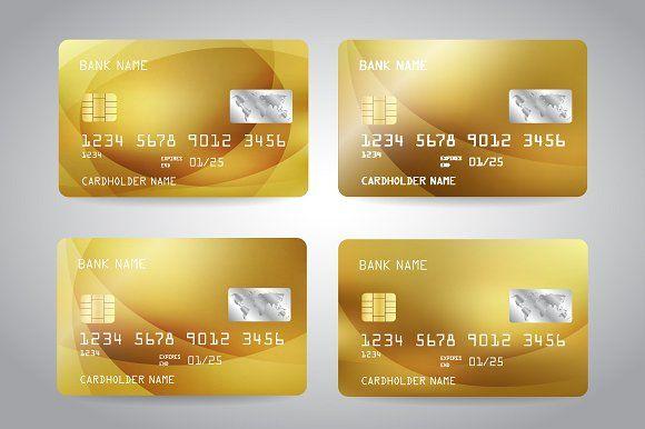Golden Card Credit Card Templates Credit Card Template Card Templates Credit Card