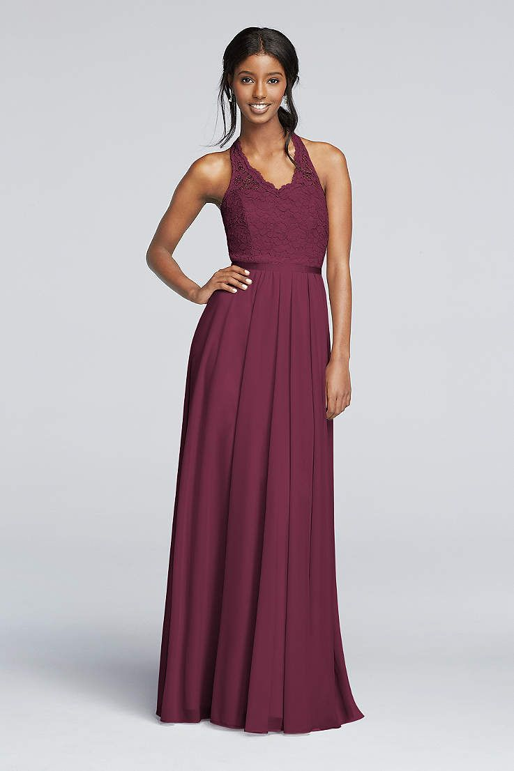 View vintage halter v neck bridesmaid dress at davids bridal searching for stunning plus size bridesmaid dresses for your bridal party view davids bridal expansive collection of elegant plus size bridesmaid dresses ombrellifo Image collections