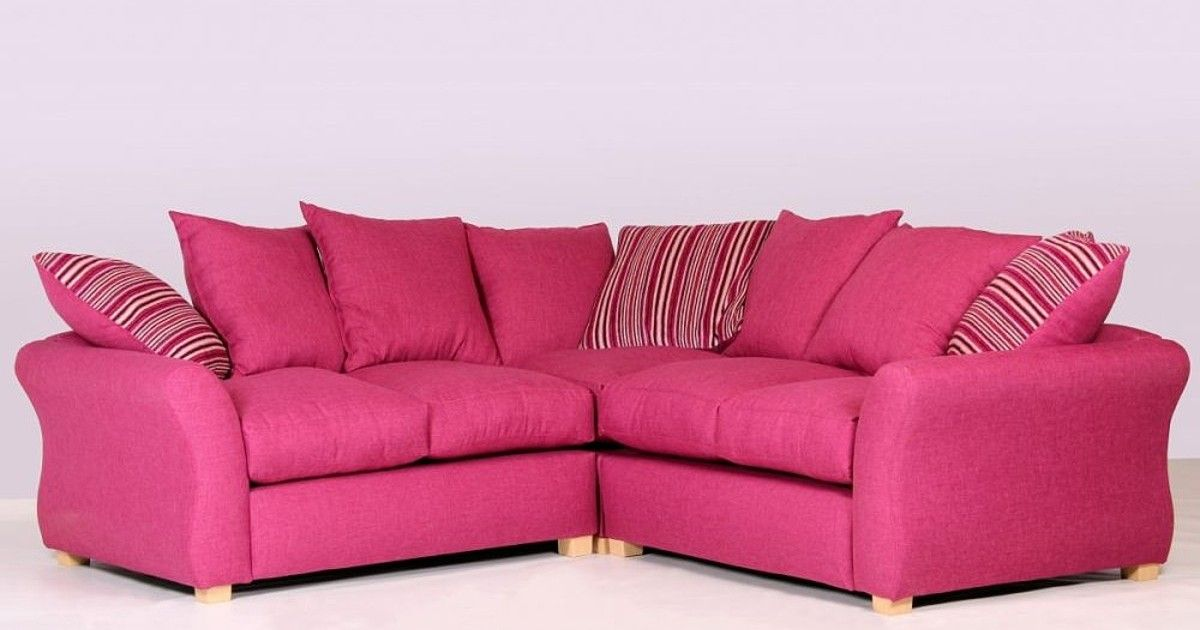 Sarah Corner Sofa Pink Fabric | Pink fabric, Corner and Pink sofa