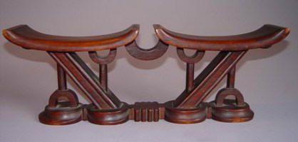 African headrest / neck rest, Shona - Tsonga - Zulu . Africa