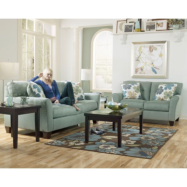 The Kylee Lagoon Living Room Set By Signature Design Ashley Furniture