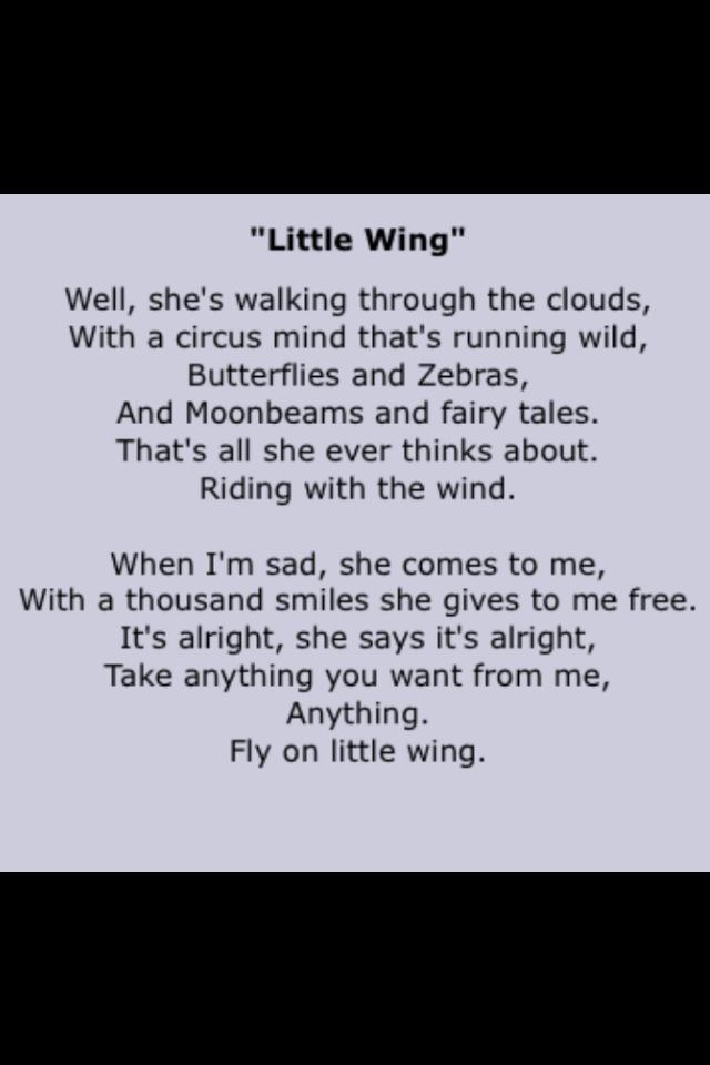 Lyric david bowie word on a wing lyrics : Little Wing