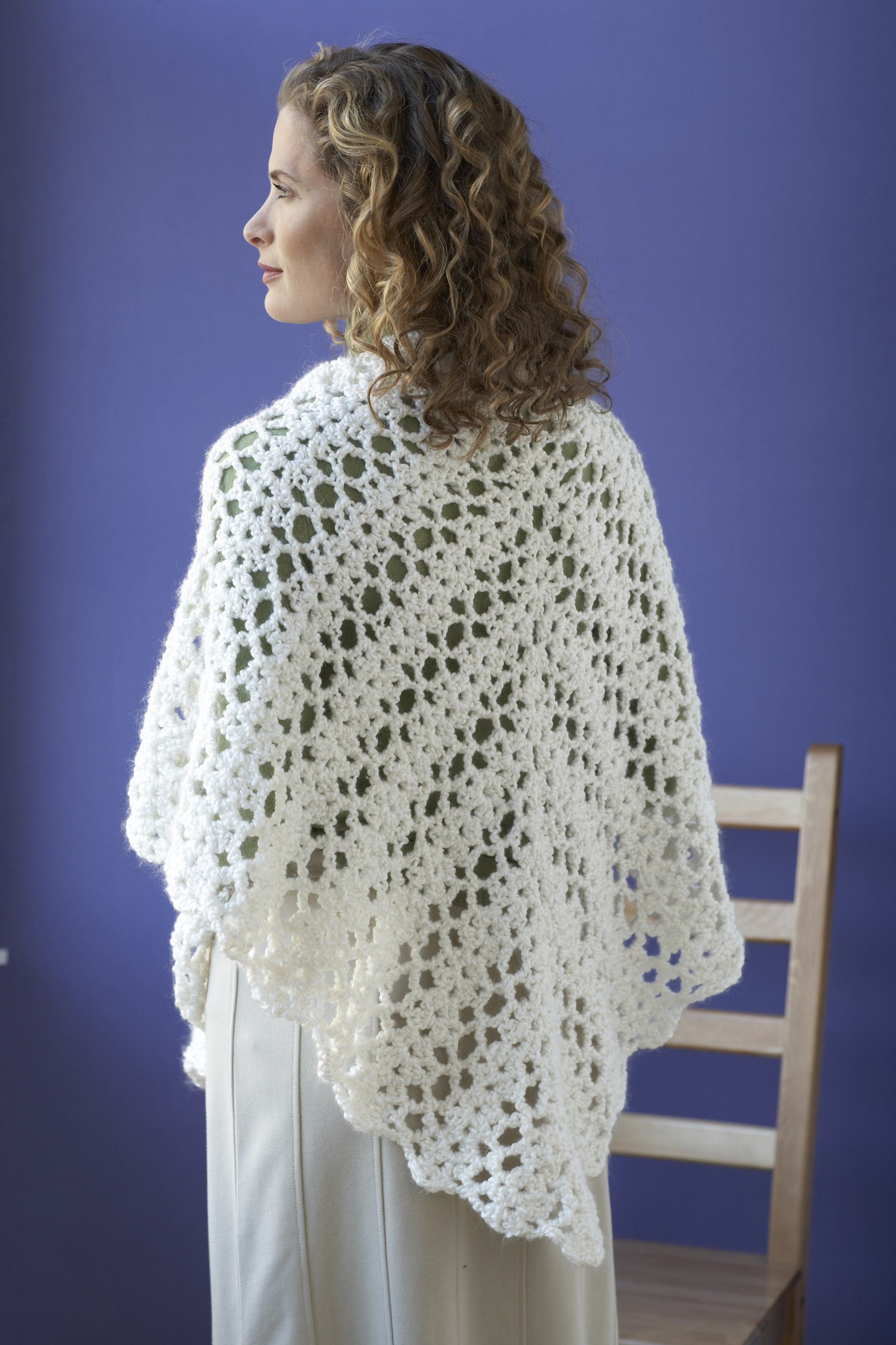 Bridal Shawl (Crochet) free pattern Lion Brand   Crochet: Clothing ...