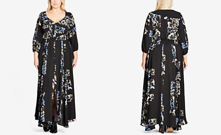 City Chic Plus Size Trendy Printed Maxi Dress