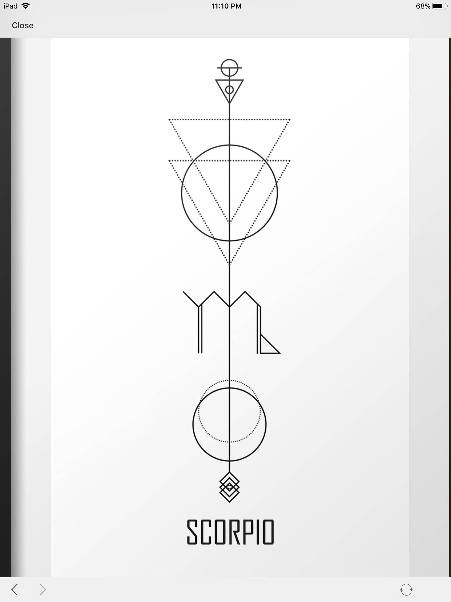 Photo of scorpio geometrical #constellationpiercing scorpio geometrical