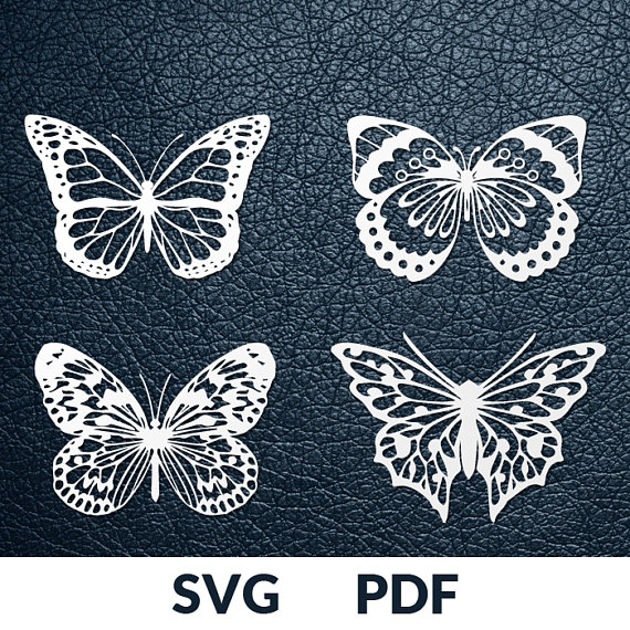 Folded Paper butterfly Template