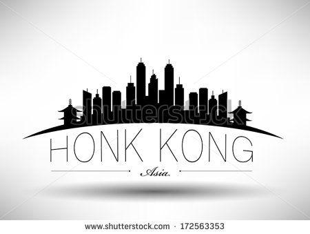 Modern Hong Kong City Skyline Design