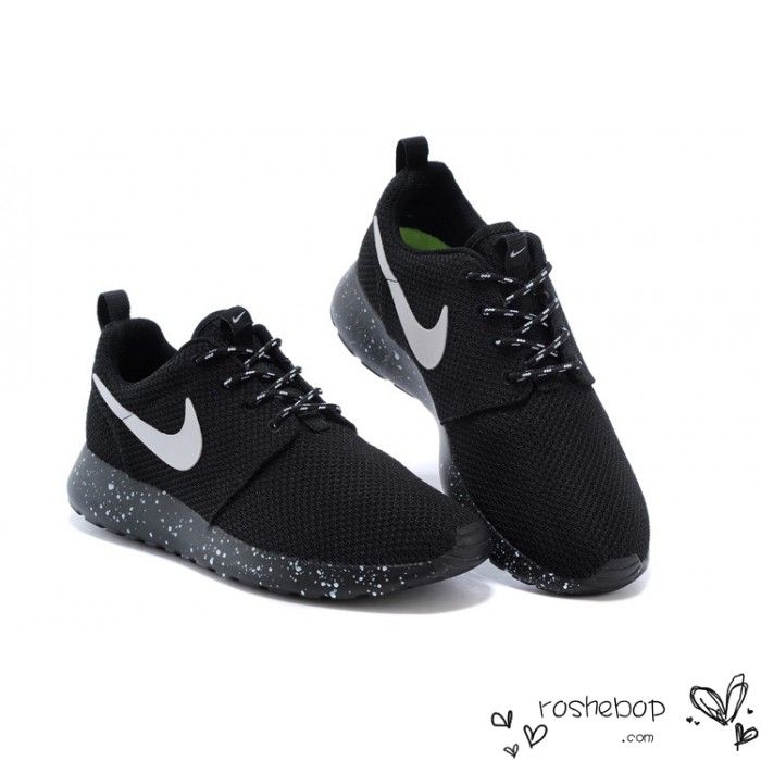 Nike Roshe Run Mesh Ink Spot Speckled Black Shoes Mens Womens