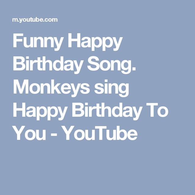 Funny Happy Birthday Song. Monkeys Sing Happy Birthday To