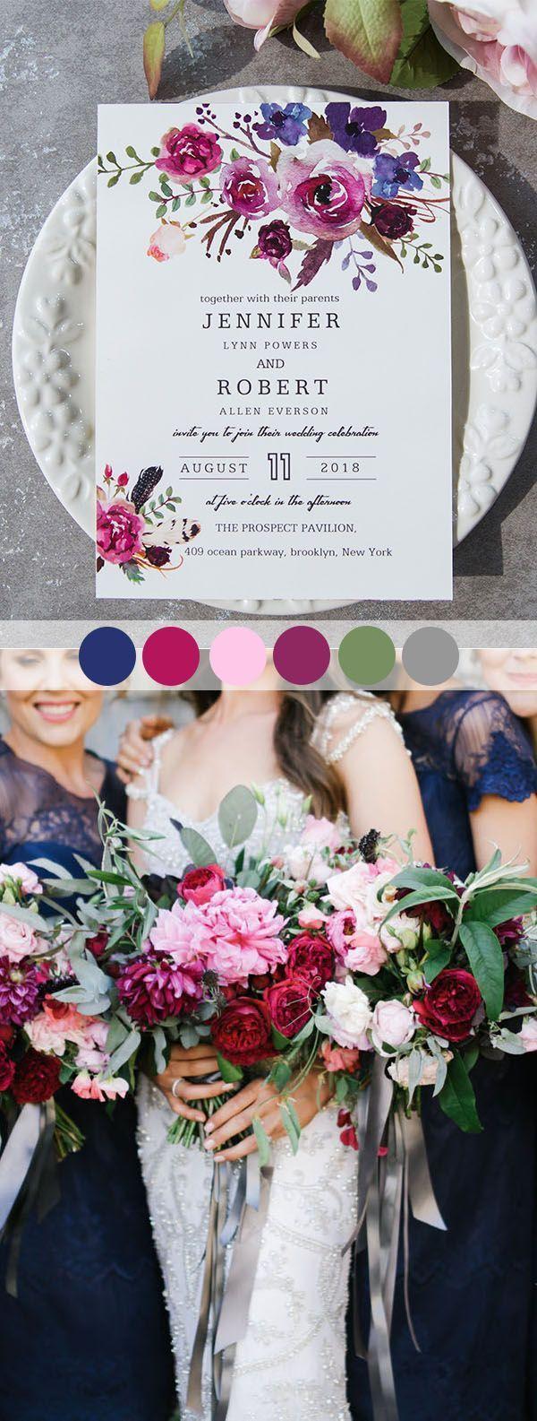 spring wedding colors is part of Purple wedding invitations -