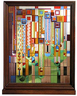 My absolute favorite Frank Lloyd Wright piece of glass art.