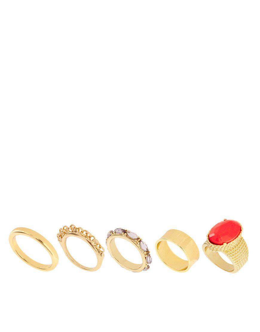 ASOS Stone Ring Pack - $20.36.