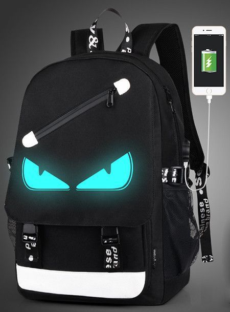 Fashion Backpacks Student Luminous Animation School Bags For Boy Girl Teenager