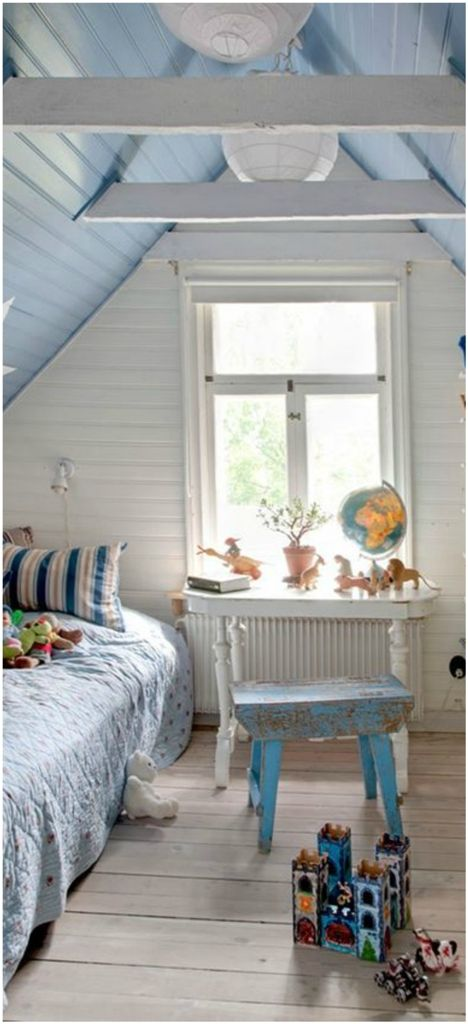 15 Stunning Kids Attic Bedroom Ideas Blue Kids Room Attic