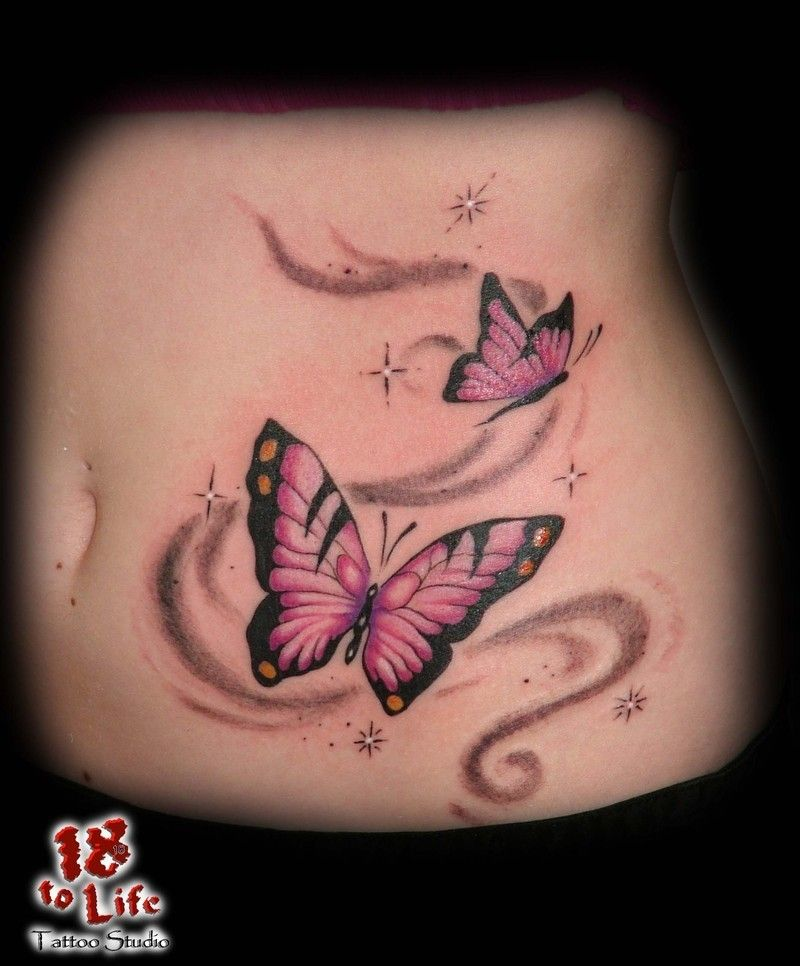 Girl Belly Button Amazing Cute Baby Monkey Tattoo On Girl Belly Button Butterfly Tattoo Designs Butterfly Tattoo Swirl Tattoo