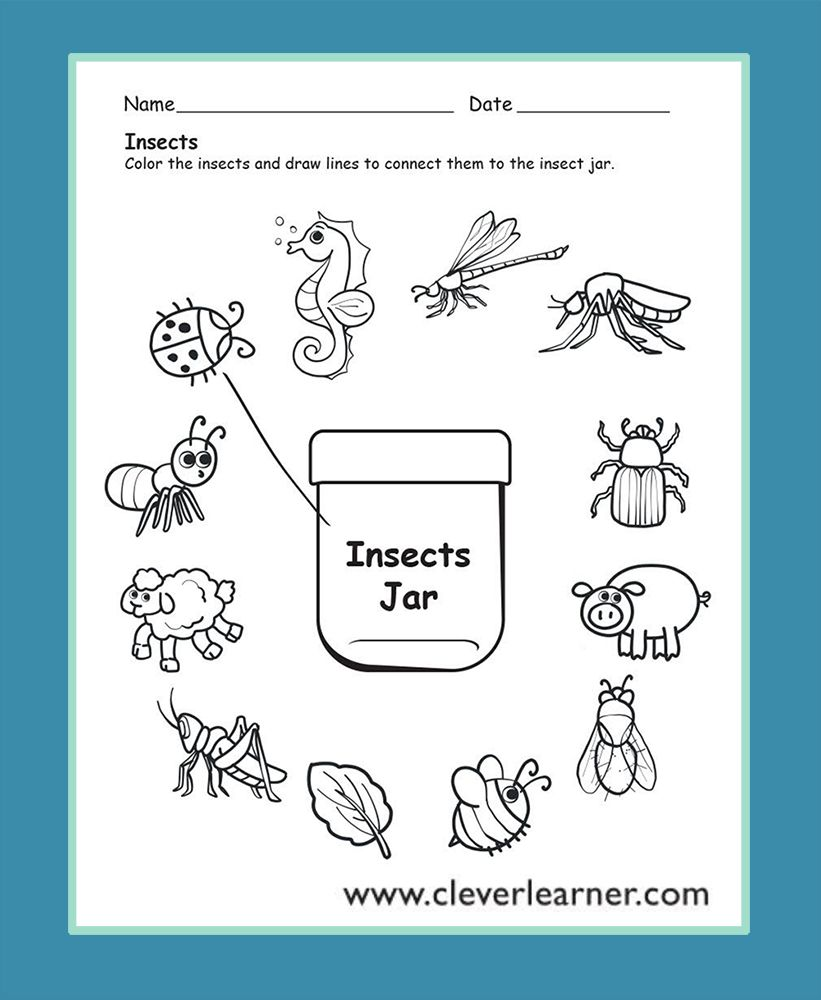 Halloween Science Worksheets In 2020 Insects Preschool Free Preschool Worksheets Preschool Worksheets