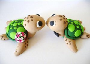 idee bricolage pate a modeler tortue | Cake toppers | Fondant