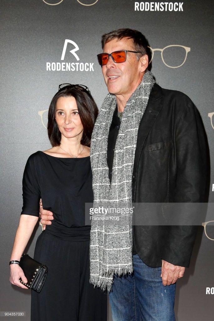 January 12, 2018 Sascha Hehn and his girlfriend Gloria Krass during the Rodenstock Eyewear Show ...