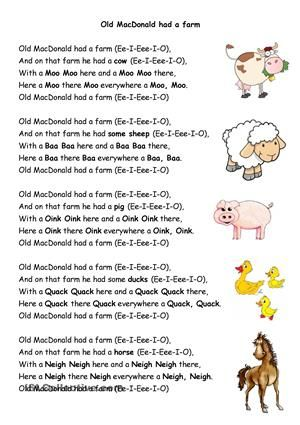 Old Macdonald Had A Farm Preschool Songs Farm Songs Farm Preschool