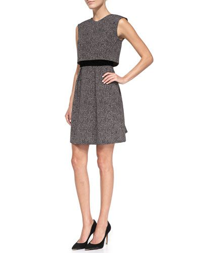Love this tweed dress from Rebecca Taylor