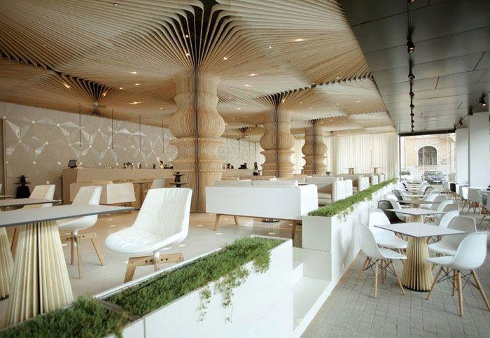 graffiti cafe interior decorating - Contemporary Cafe Interior