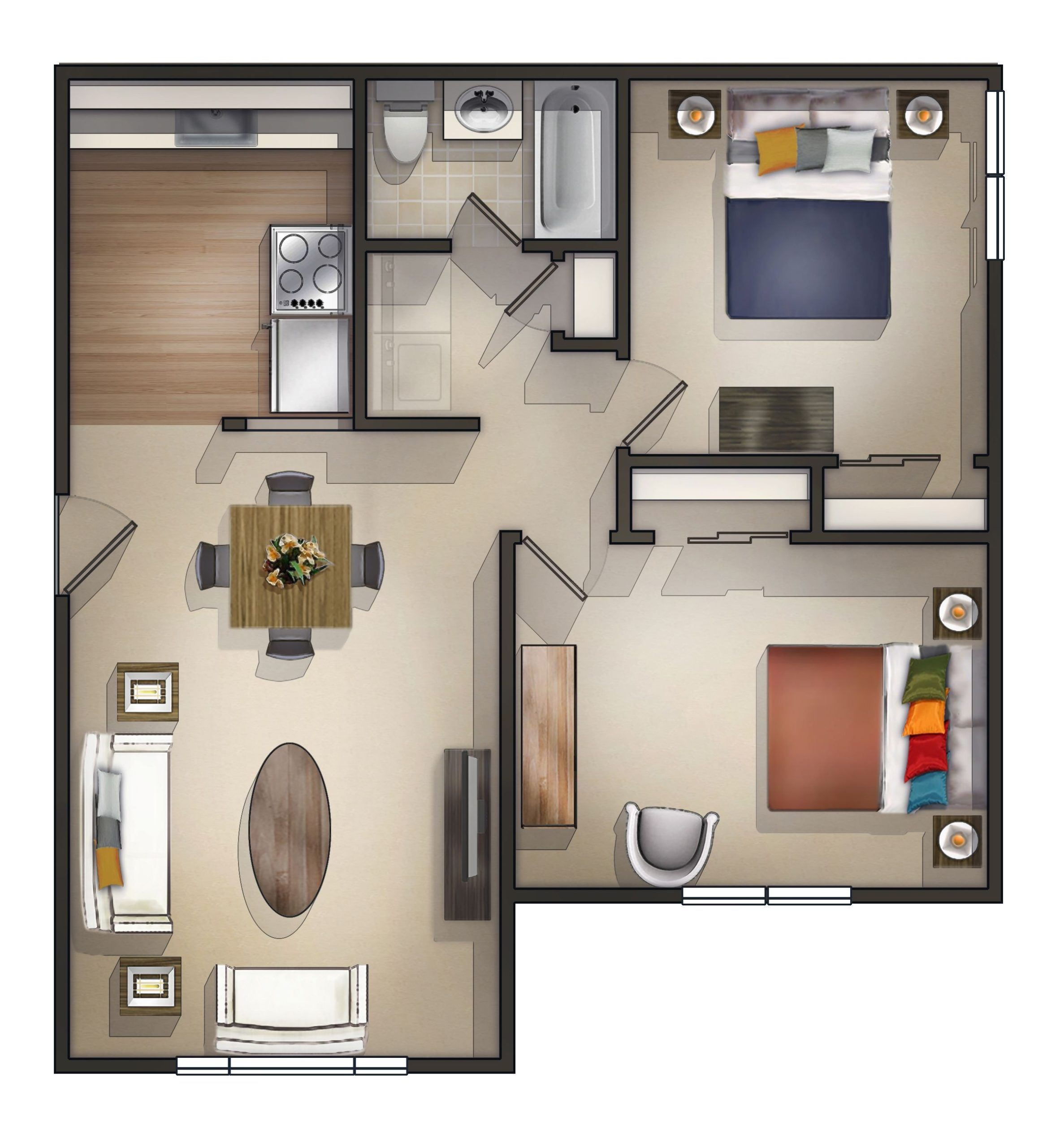 Cheap 2 Bedroom Apartments Near Me Apartmentsdesign Inside