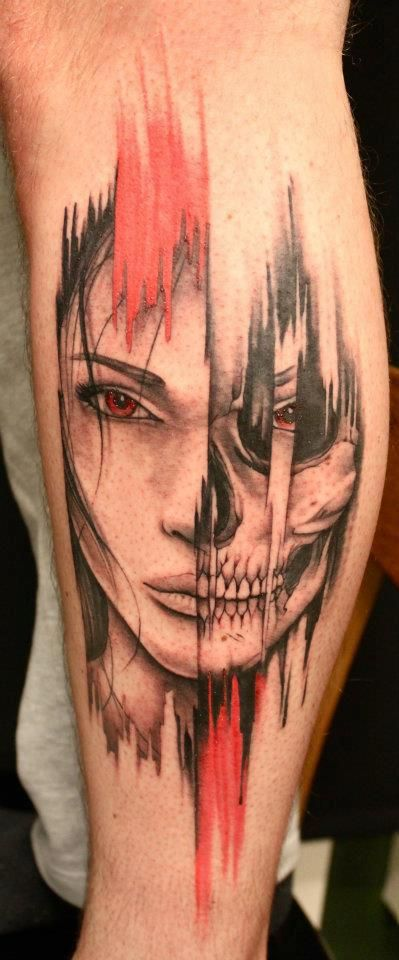 A different two face than usual tattoo design ideas for Two faced tattoo