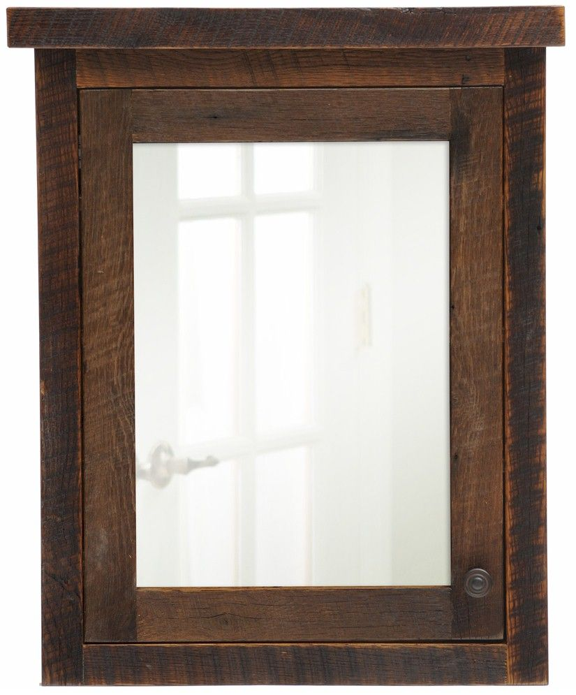 Reclaimed Oak Medicine Cabinet | Boys Bathroom | Pinterest ...