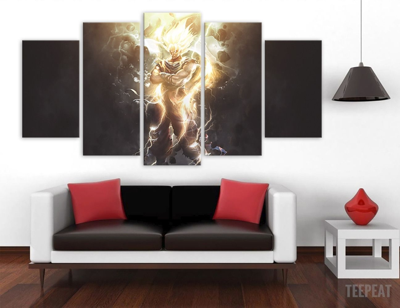 decoration murale en 5 pieces dragon ball z crystal balls