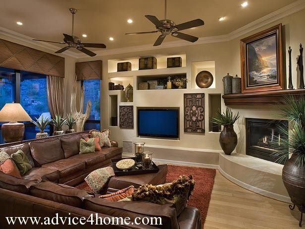 dream house Living Room Decor With Dark Brown Couch Kgwhhxsj dark ...