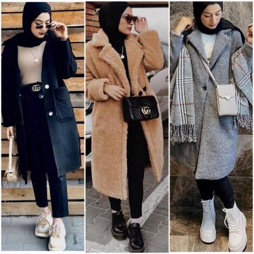 Hijab fashion gallery -   18 style Hijab winter ideas