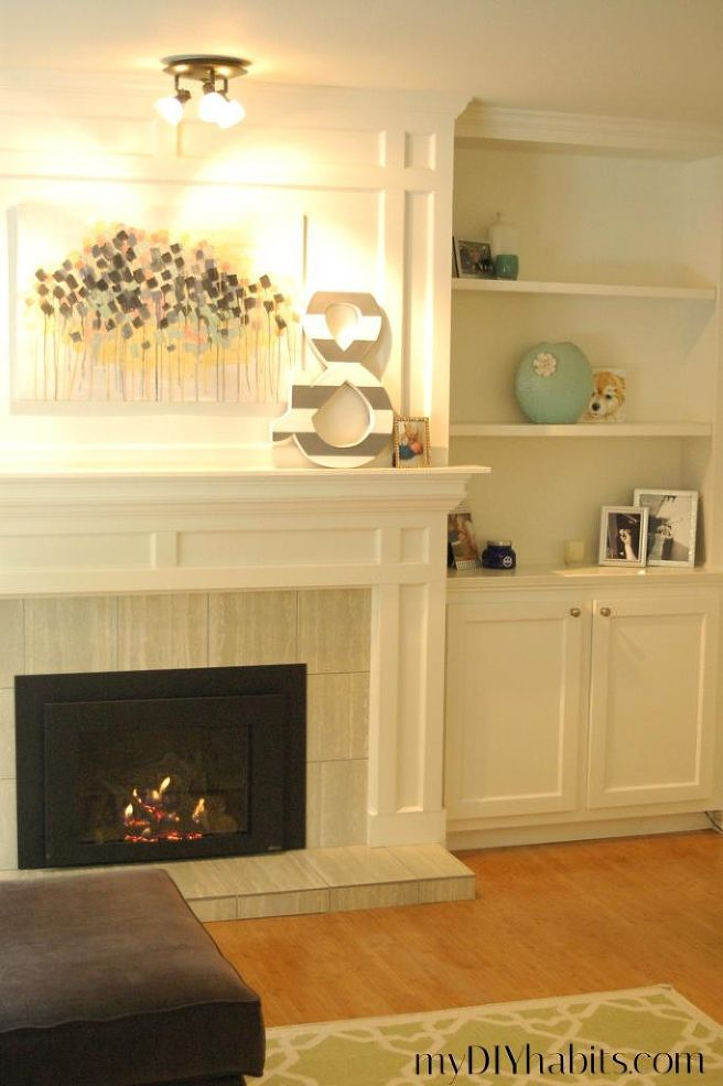 Our Transformed Fireplace: Before & After   Living rooms, Room and ...