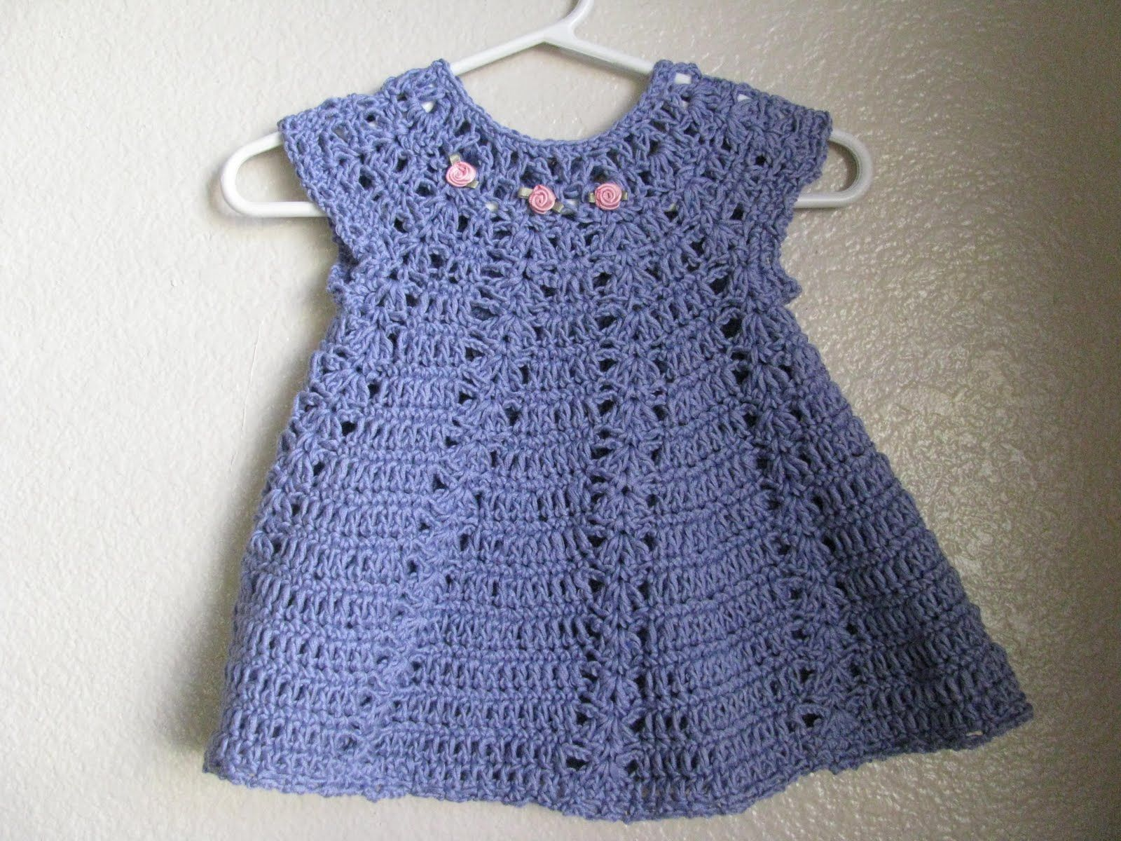 My First Crocheted Baby Dress Finished