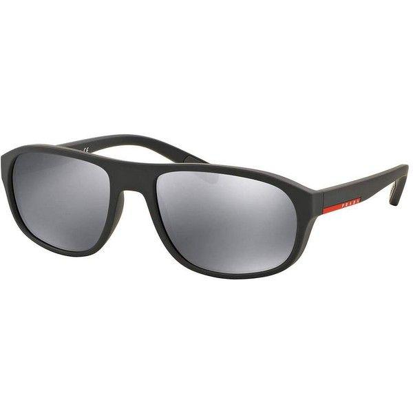 Prada Rectangular Sunglasses with Mirror Frames (645 BRL) ❤ liked ...