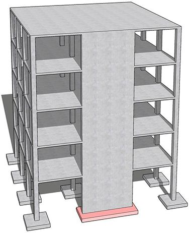 Multi Story Commercial Buildings Reinforced Concrete Shear Walls Structures Building Foundation Masonry Wall Home Construction
