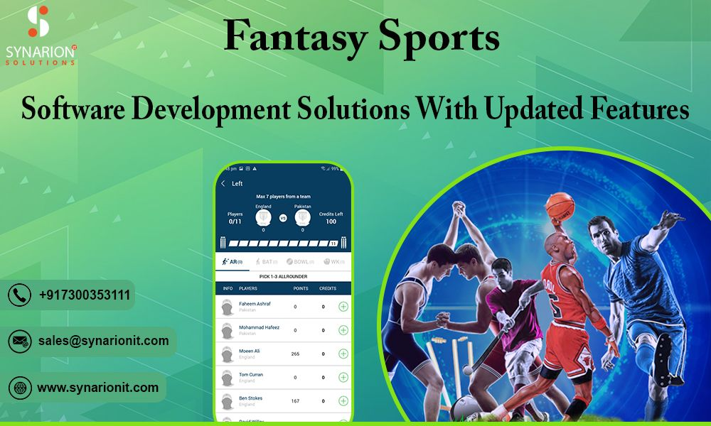 Synarion IT Solutions offers a custom fantasy sports