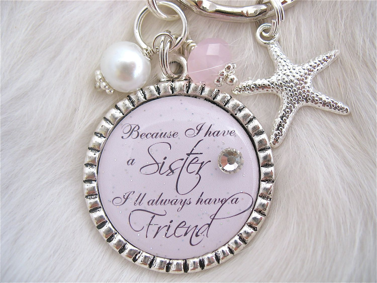SISTER Wedding Quote Bridal Jewelry Gift Pendant Engagement Mother Of The Bride