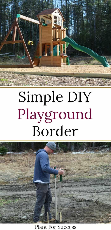 Simple DIY Playground Border