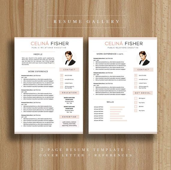 Creative Resume Template A4 and US Letter CV Template Cover
