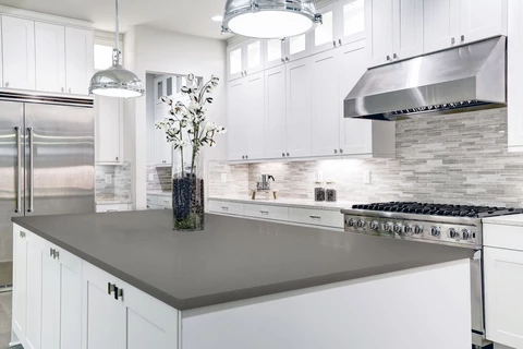 Best White Cabinets With Gray Countertops Add Depth To Your 400 x 300
