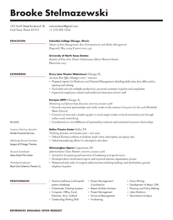 Good Redesigns A Reader S Resume Resume Format Examples Types Of Resumes Best Resume Format