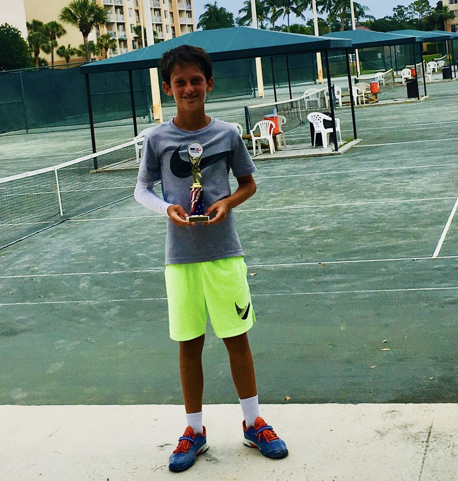Congratulations To Jaden Brady For Winning The Boys 12 Tennis Club Of Palm Beach Tournament In West Palm Beach Florida Well Done Tennis Clubs Champion Elite