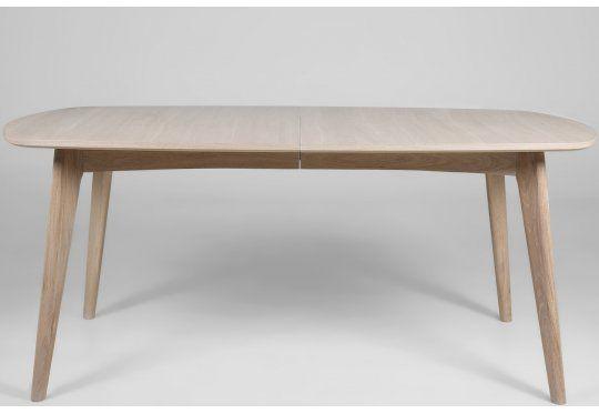Marte Stół Rozkładany Drewno Dębowe Bielone 180/270x102x76cm - 2