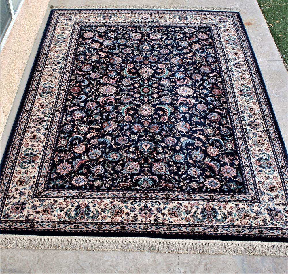 8 8 X 12 Vintage Karastan Sarouk Pattern 785 Wool Rug Beauty