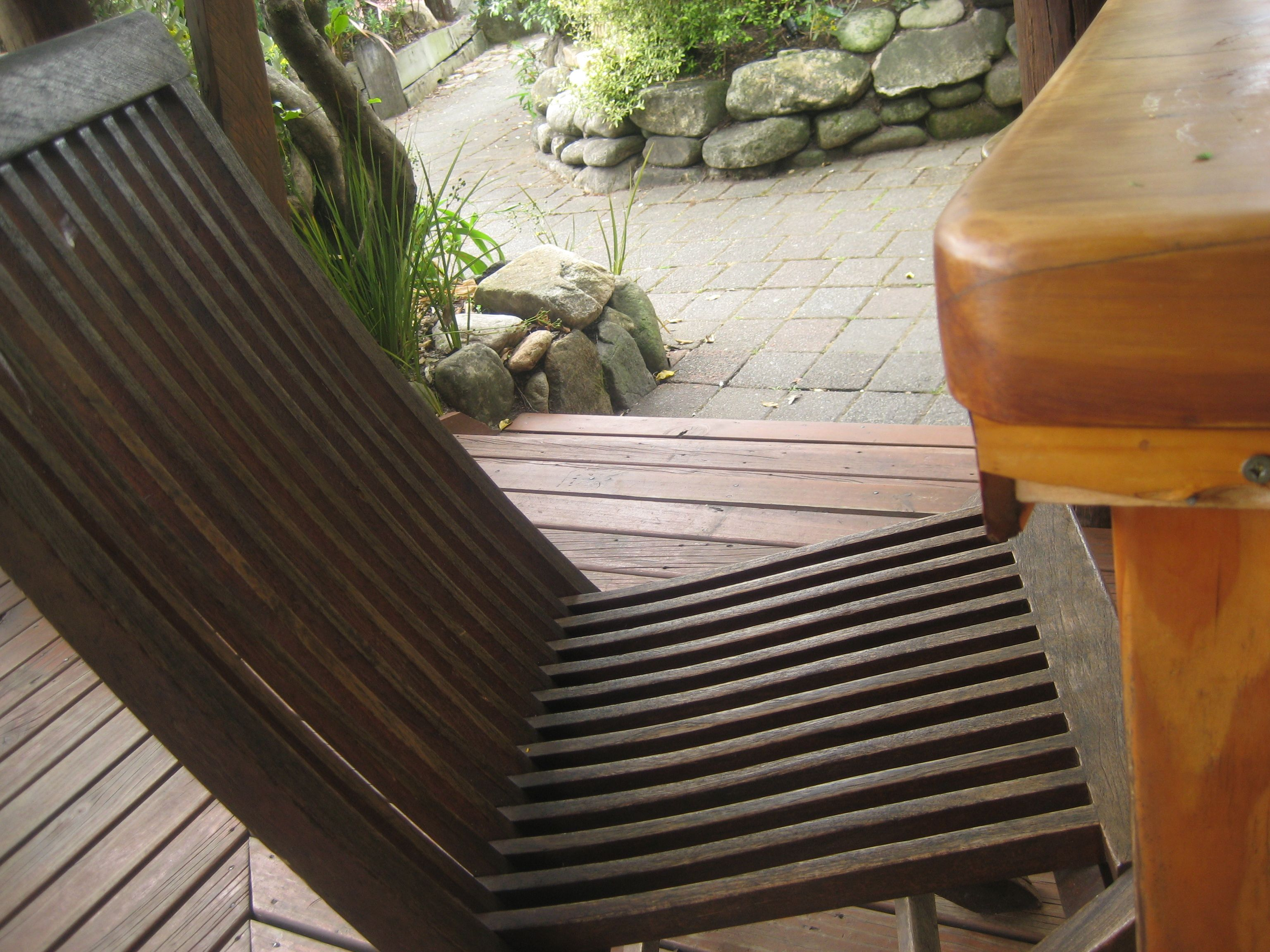 nice folding chairs from Abel Tasman DOC cafe