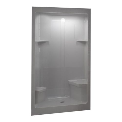 Lowes Home Improvement Shower Stalls Aqua Glass 48 W X 35 D 90 H